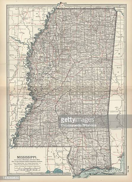 Mississippi Map Stock Photos And Pictures Getty Images - Missisippi map
