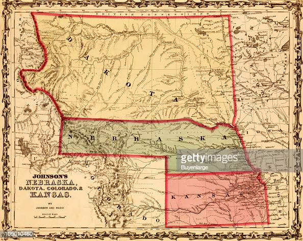 Kansas Map Stock Photos And Pictures  Getty Images
