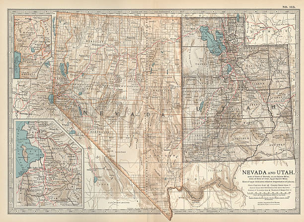 Map Of Nevada And Utah Pictures Getty Images - Map of nevada