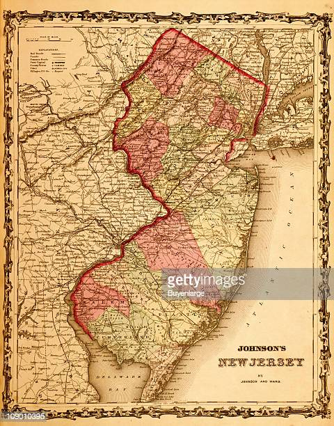 A map of New Jersey 1862