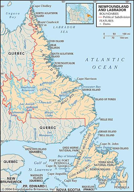 Map Of Newfoundland And Labrador Pictures Getty Images - Map of newfoundland