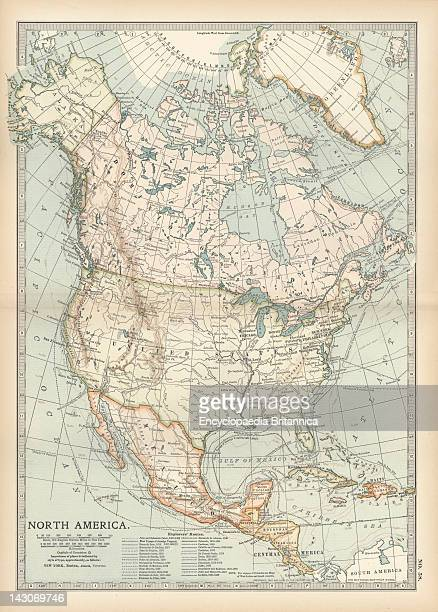 Map Of North America And Central America Pictures | Getty Images