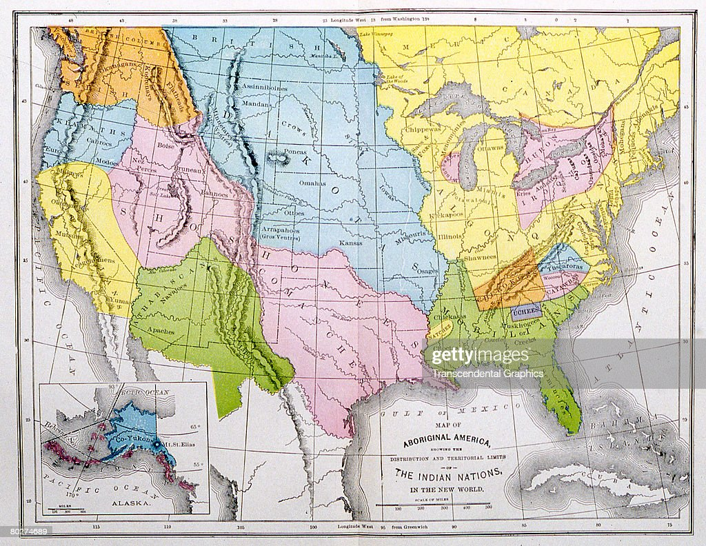 Map Of Aboriginal America Pictures Getty Images - Native american map of america