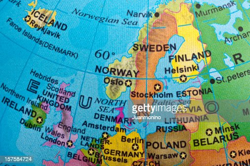 Map Of Northern Europe Photo – Map of North European Countries