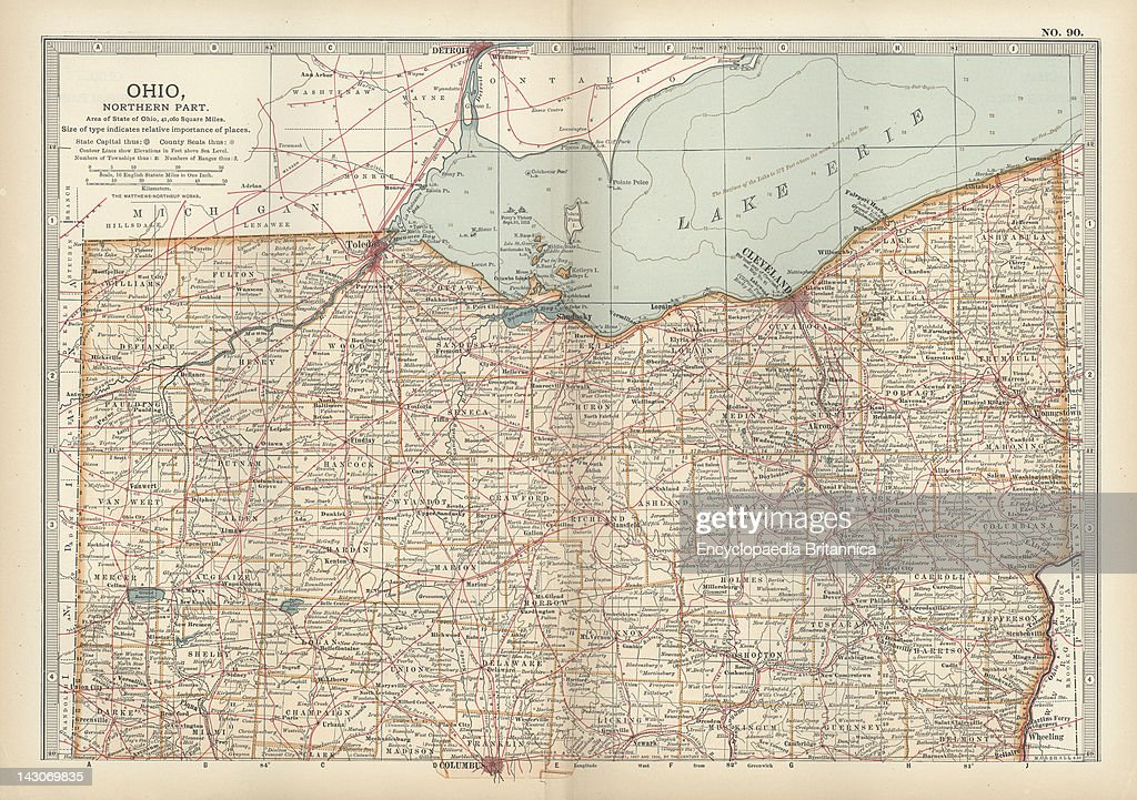Map Of Northern Ohio Pictures Getty Images - Map of northern ohio