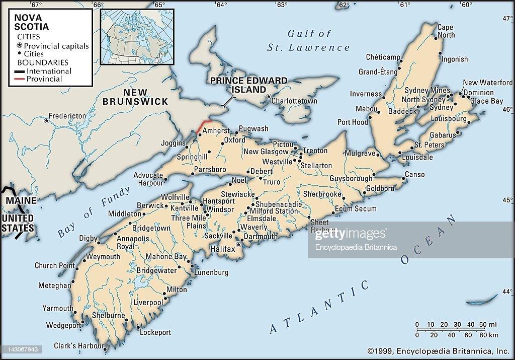 Map Of Nova Scotia Pictures Getty Images - Nova scotia map
