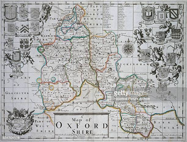A Map of Oxford Shire by John Seller
