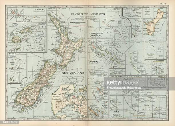 Map Of Pacific Ocean Islands Map Of Pacific Ocean Islands New Zealand Samoa Fiji Tonga Guam Marshall Islands Solomon Islands Mariana Islands Ellice...