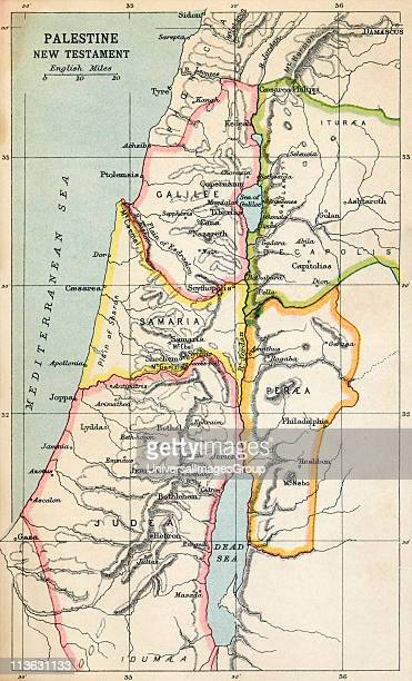 Map of Palestine as described in the New Testament From the book Atlas of ancient and Classical Geography published 1928