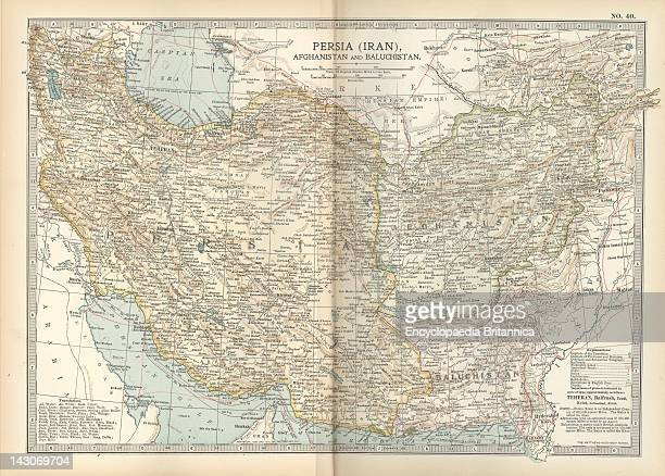 Map Of Persia With Afghanistan And Baluchistan Map Showing The Historical Boundaries Of Persia Afghanistan And Baluchistan Circa 1902 From The 10Th...