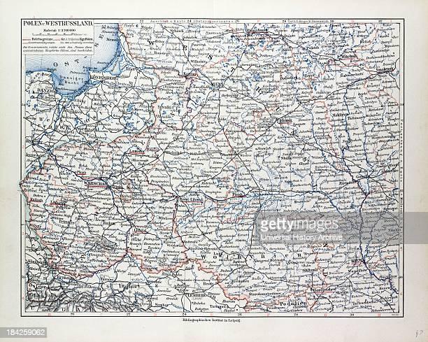 Map Of Poland Belarus And Ukraine 1899