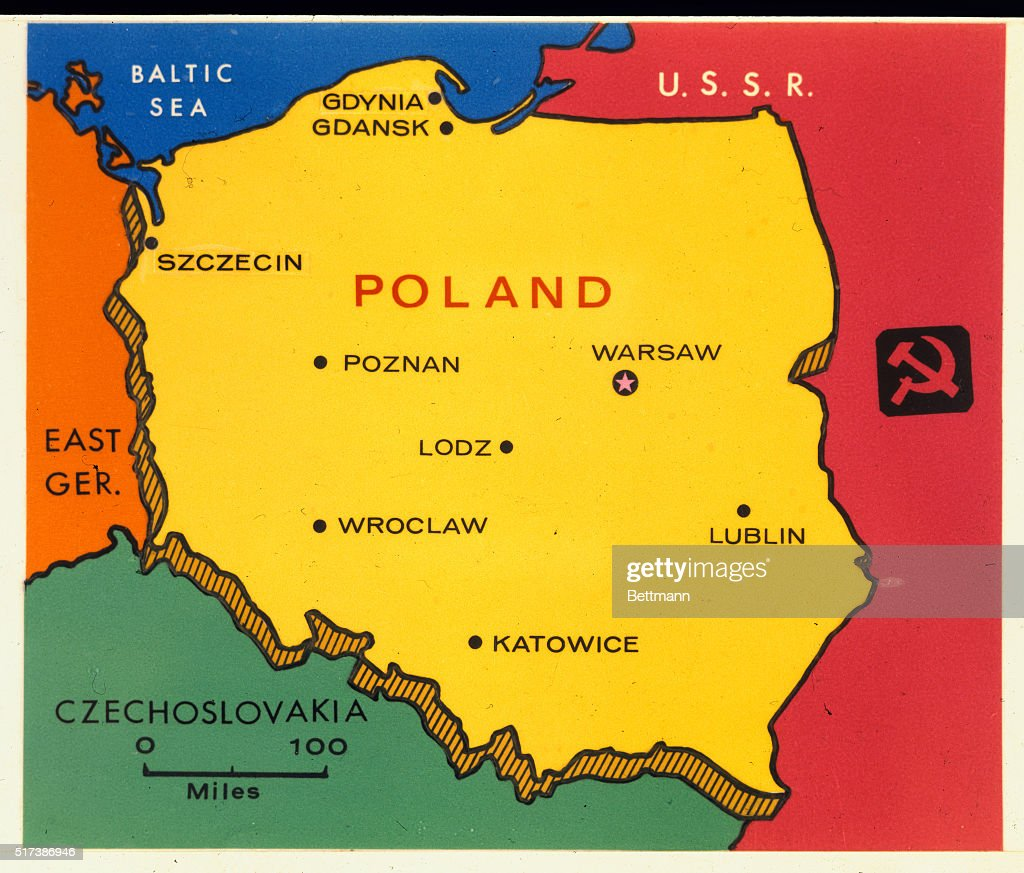Color Map Of Poland Pictures Getty Images - Germany map with major cities