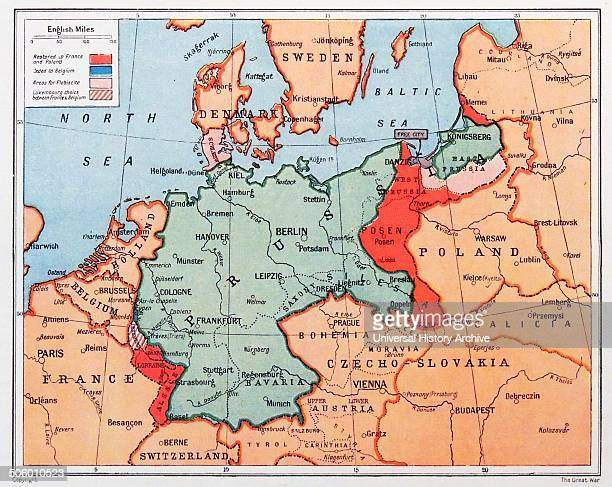 Map of Prussia in Germany circa 1870