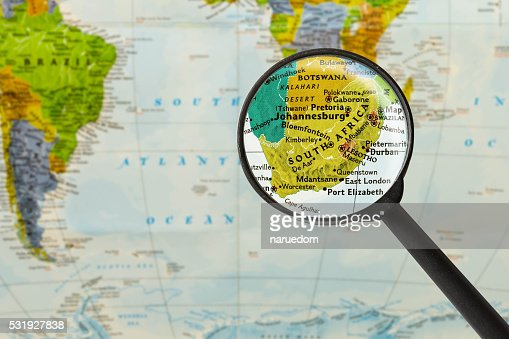 Map of Republic of South Africa : Stock Photo