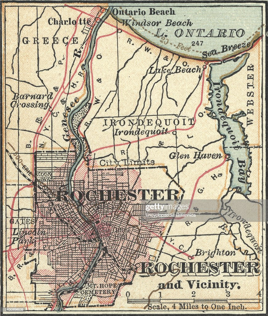 Map Of Rochester Pictures Getty Images - New york map rochester