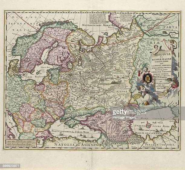 Map of Russia Second Half of the 17th century Found in the collection of Rijksmuseum Amsterdam Artist Visscher Nicolaes