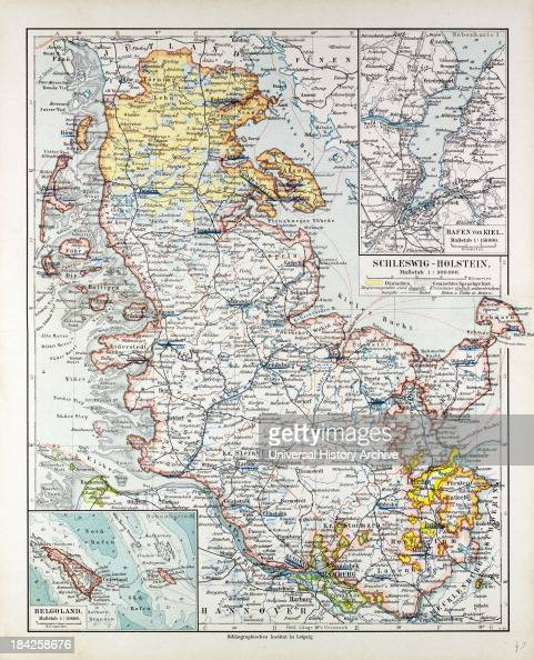 Map Of SchleswigHolstein Germany 1899