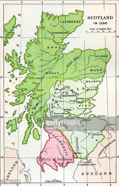 Map of Scotland in 1290