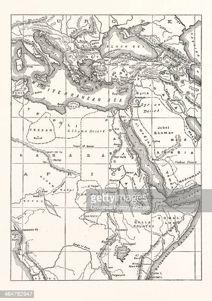 Map Of South Eastern Europe, Western Asia, And Northern And ...