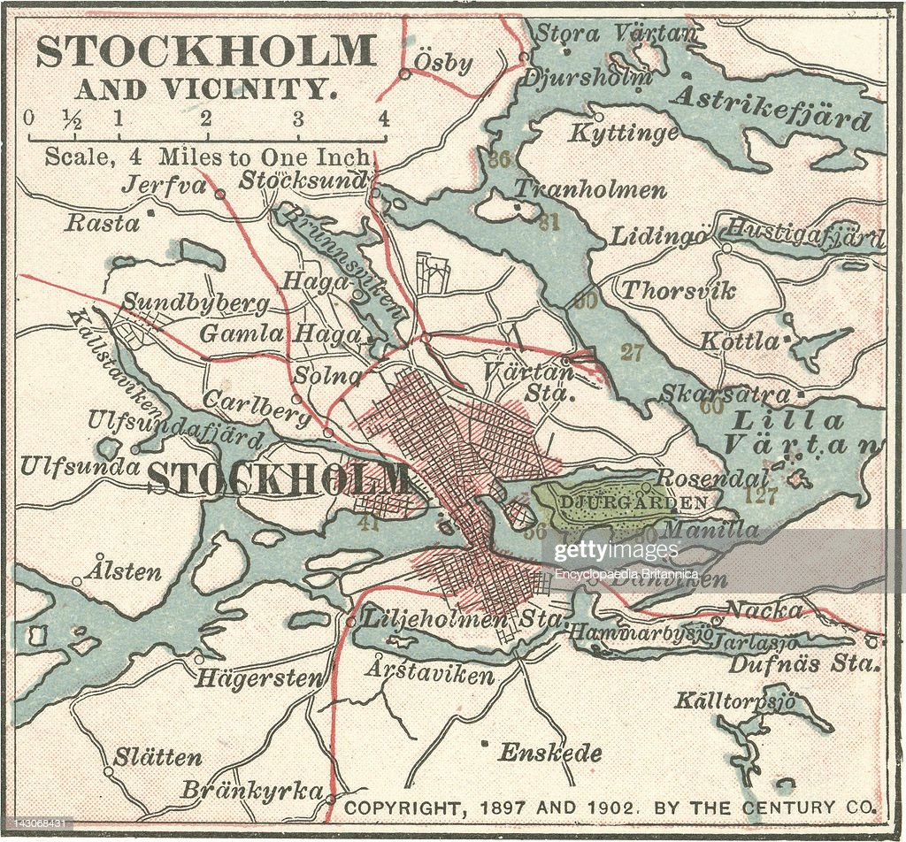 Map Of Stockholm Pictures Getty Images - Sweden map stockholm