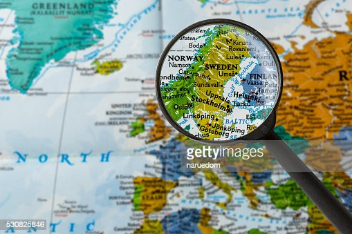 Map of Sweden : Stock Photo