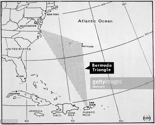 Map Of Bermuda Triangle Pictures Getty Images - Map of cuba and southeast us