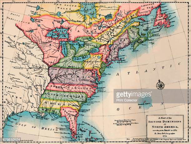Map of the British Dominions of North America' From Social England Volume V edited by HD Traill DCL and J S Mann MA [Cassell and Company Limited...