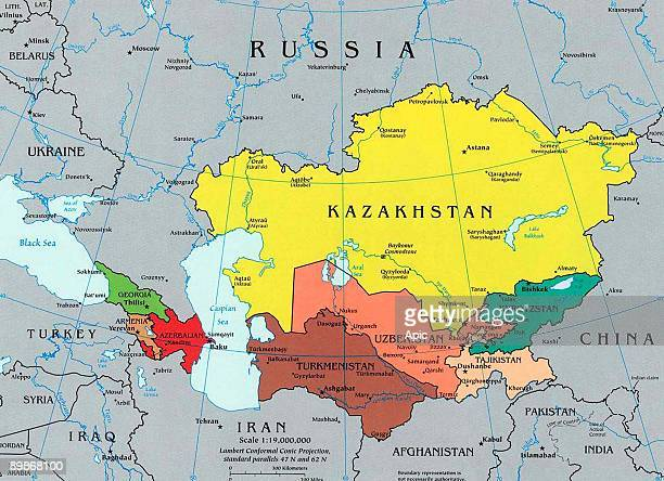 Map Of Caucasus Stock Photos And Pictures Getty Images - The caucasus map