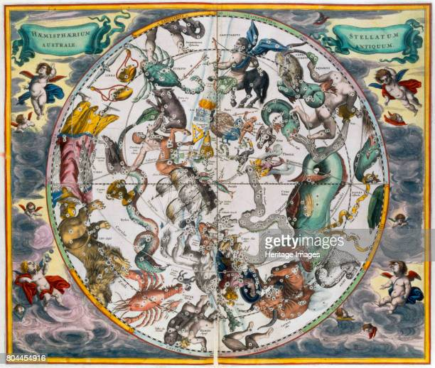 Map of the celestial Southern Hemisphere 16601661 From The Celestial Atlas or the Harmony of the Universe by Andreas Cellarius published by Johannes...