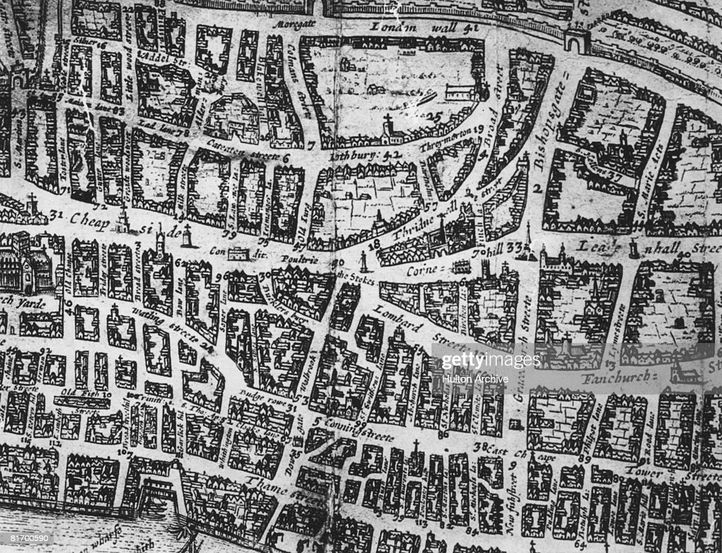 Old City Of London Pictures Getty Images - London map 1600