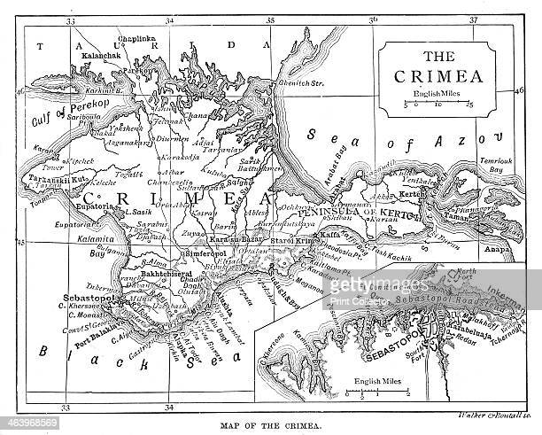 Map of the Crimea c1888 Illustration from The Life and Times of Queen Victoria Vol II by Robert Wilson