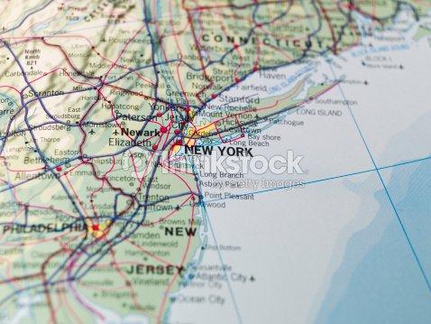 Map Of The East Coast Usa Stock Photo | Thinkstock