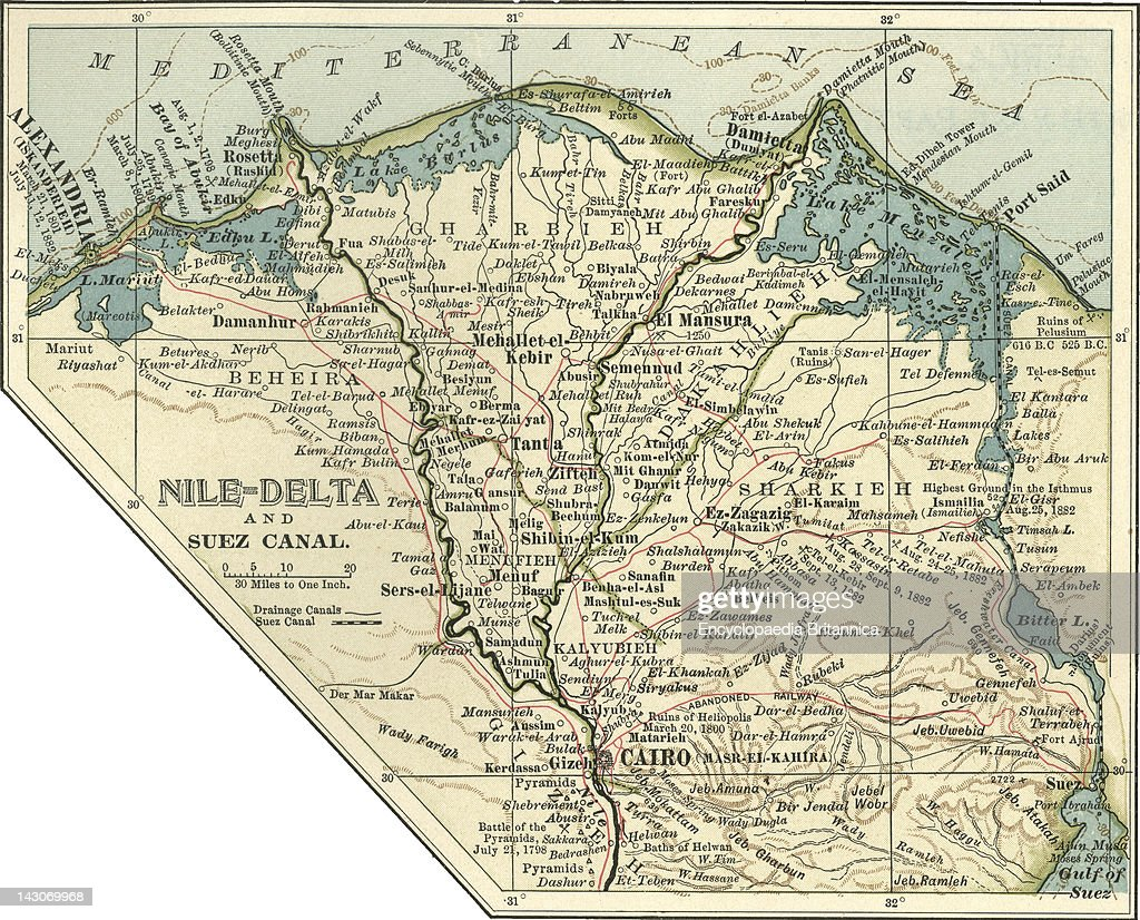 Map Of The Nile Delta And Suez Canal Pictures Getty Images - Map of egypt nile delta