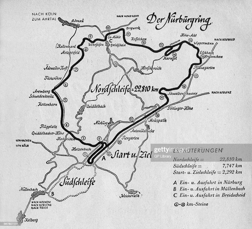 Nurburgring Celebrates Years The Internationally Known German - Germany map nurburgring