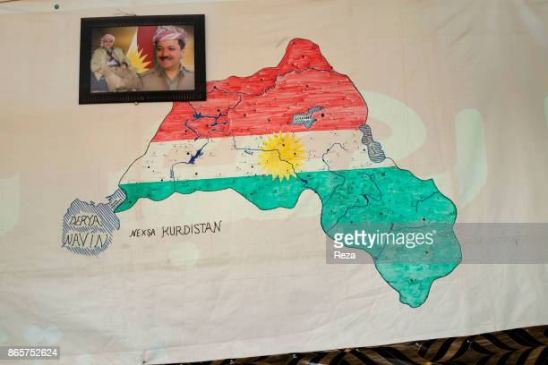 A map of the Regional Government of Iraqi Kurdistan inside the Kawergosk Refugee Camp Located north of Erbil this refugee camp was created in August...