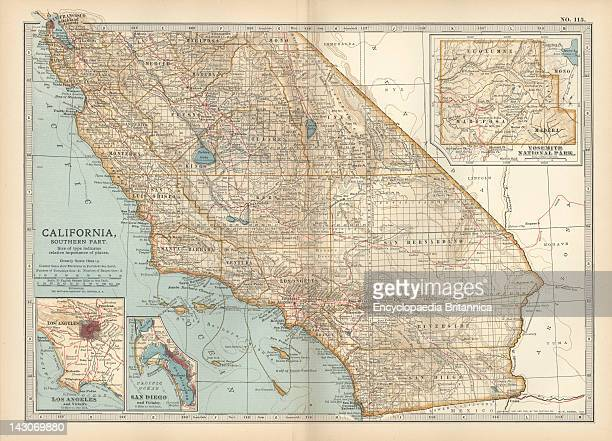 Map Of The Southern Part Of California Map Of The Southern Part Of California United States With Inset Maps Of Los Angeles San Diego And Yosemite...