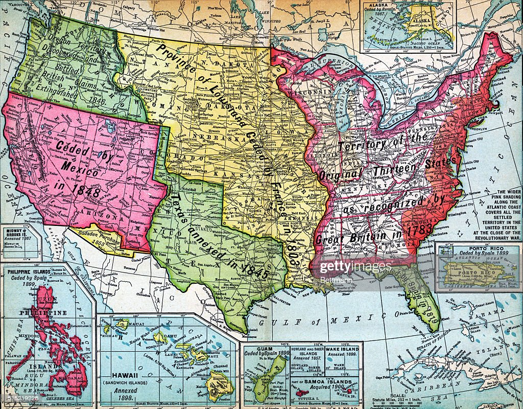 Map Of United States Expansion Pictures Getty Images - Original us map