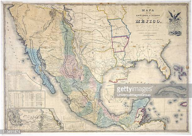 Map of the United States of Mexico 1847 published by J Disturnall This was appended to the Treaty of GuadalupeHidalgo which ended the Mexican...