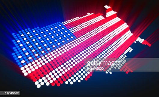Map Of The Us Led Style Stock Photo Getty Images - Us light map