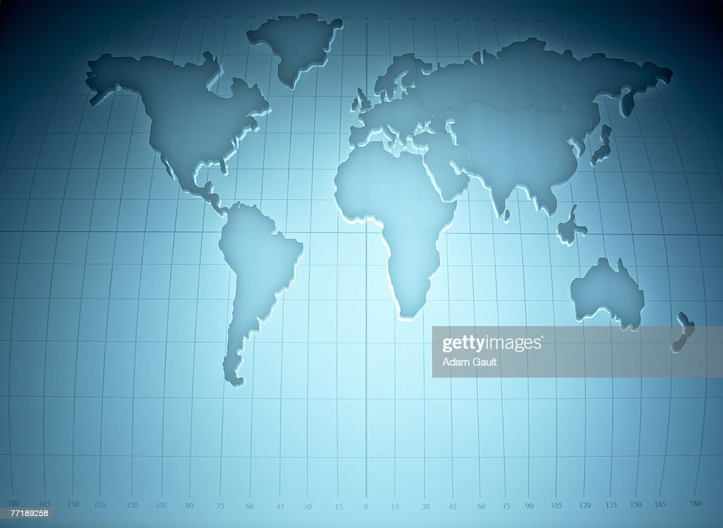 Map of the world : Stock Photo
