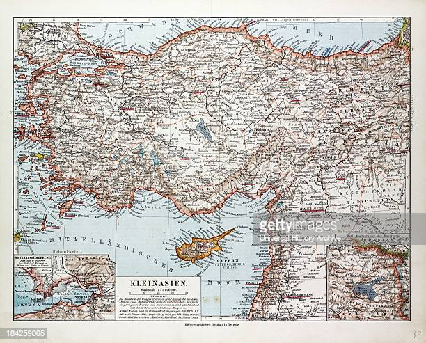 Map Of Turkey Cyprus And Syria 1899