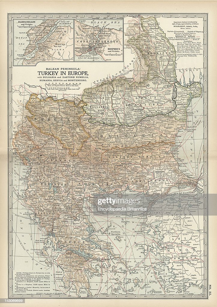 Map Of Turkey Map Showing Historical Boundaries Of The European Portion Of Turkey Circa 1902 From The 10Th Edition Of Encyclopaedia Britannica