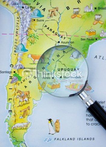 Map Of Uruguay Stock Photo | Thinkstock