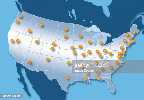 Map of USA : Stock Photo