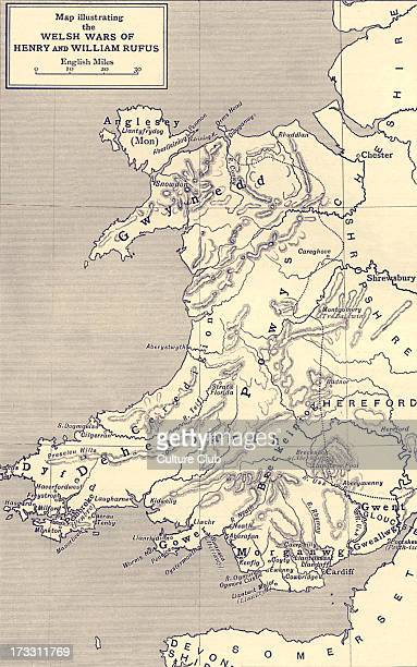 Map of Welsh Wars of William Rufus and Henry I From Freeman's 'William Rufus' William Rufus alternative name for William II of England