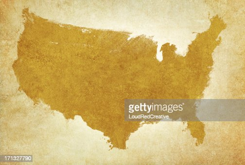 Usa Map On Aged Parchment Stock Photo Getty Images - Us parchment map