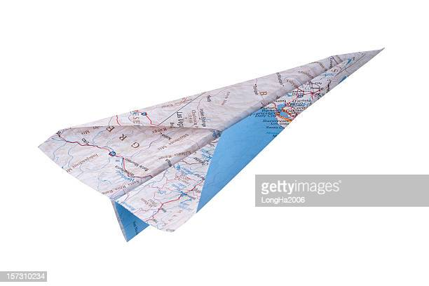 Map Paper Airplane