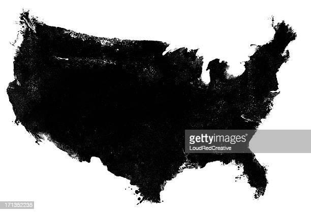 USA map photocopy grunge