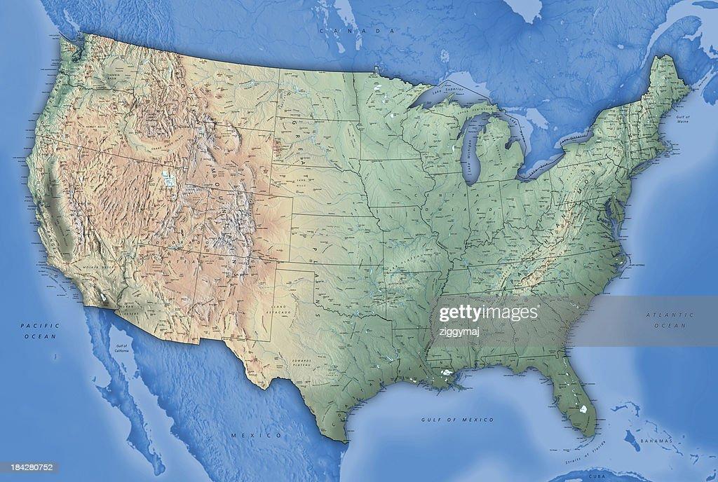 USA Map : Stock Photo