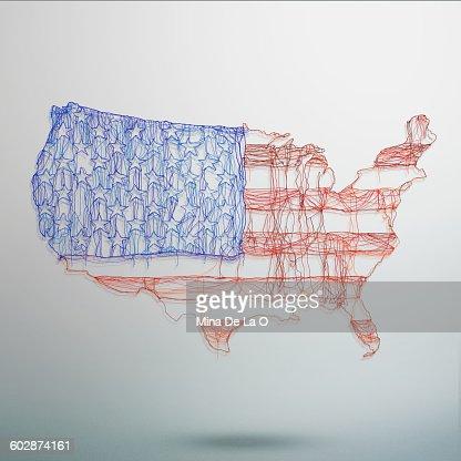 US map : Stock Photo